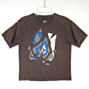 Volcom Shattered Mosaic T-Shirt Tee Boys S 6 7 8